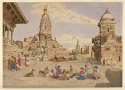Temple of Mahadeo, Bhatgaon (Nepal). March 1853